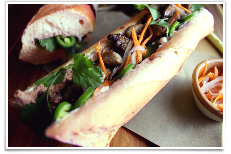 Banh Mi Thit Nuong - Grilled Lemongrass Pork Sandwich | The Noshing ...
