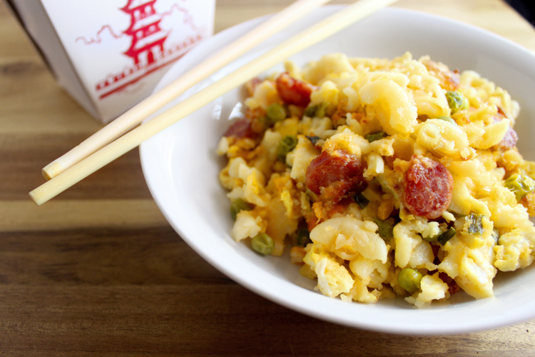 Fried Rice Mac And Cheese