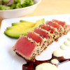 Ahi Tuna Salad with Soy Ginger Reduction & Wasabi Aioli