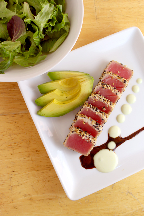 recipe: pan seared tuna with wasabi sauce [18]