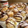 Cream Puffs with Chocolate Pastry Cream